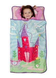 Princess Fairytale Castle Nap Mat Toddler Blanket Pillow
