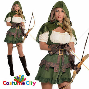 Adult Womens Sexy Robin Hoodie Medieval Hood Fancy Dress Party Costume | EBay