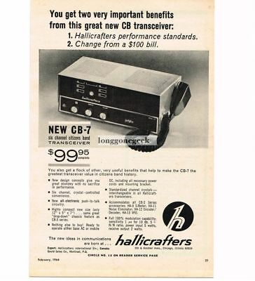 Merchandise & Memorabilia Collectibles Trustful 1964 Hallicrafters Cb-7 Six Channel Transceiver Cb Ham Radio Vtg Print Ad