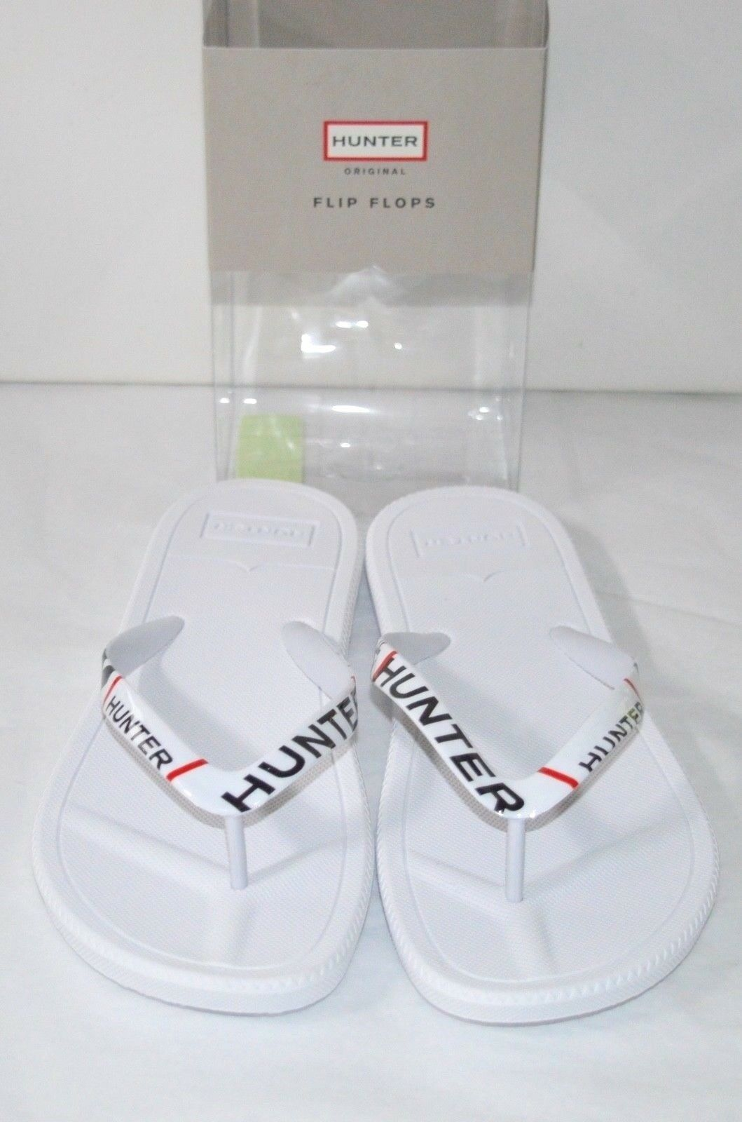 117bf6c1c Hunter Womens Women s Original Exploded Logo Flip Flop White