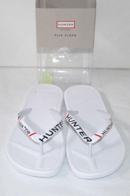 b86bbd669 New $45 Hunter Original White/Red/Black Logo Flip Flops Sandal WFD1060EVA  Rare