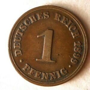1899 D Alemán Empire Pfennig - Gran Moneda Alemán Bin #16