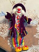 "Clown, Musical, Dancing, Vintage, Wind up toy, Porcelain 12"""