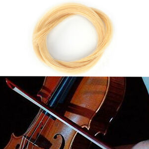 1pc-White-Hank-80cm-32Inch-Mongolian-Violin-Viola-Cello-Bow-Hair-Horsehair-CRIT