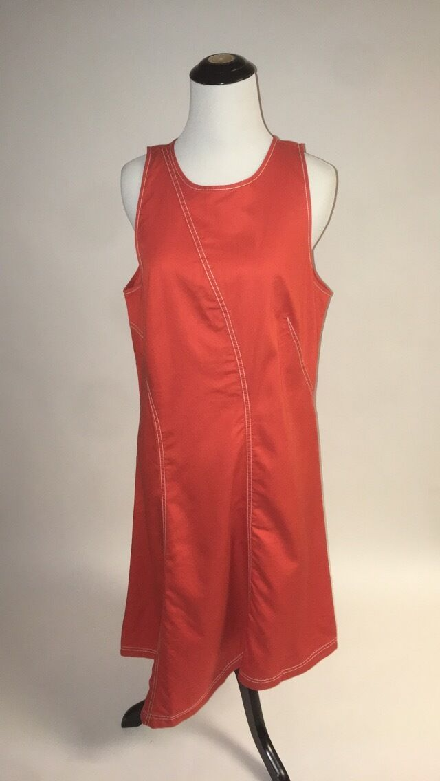 NWT SZ 12 Asymmetrical Bileu Dress by Maeve Orange