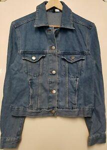 New Womens Ladies Light Blue Button Pockets Denim Jacket Sizes UK 6 8 10 12 14