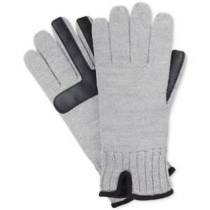 $115 ISOTONER Men BLACK LINED STRETCH SMARTOUCH SKI WARM WINTER GLOVES SIZE L//XL