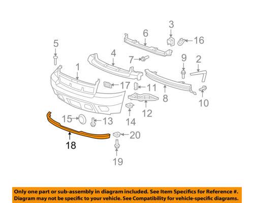 Chevrolet GM OEM Suburban 1500 Front Bumper-Spoiler Lip Chin Splitter 15203734