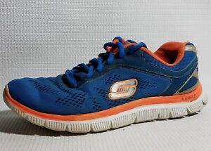 Skechers Flex Appeal Love Your Style Womens 8.5M Running Shoe Sneaker 11728 Blue