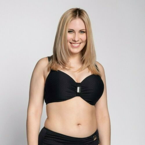 Ulla Dessous Bikini Oberteil St Tropez Schwarz Saint Bügel Cup D-K Unterlegt