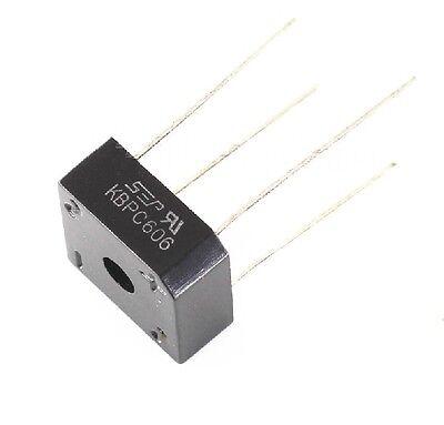 10 PCS KBPC606 606 6A 600V Bridge Rectifier NEW