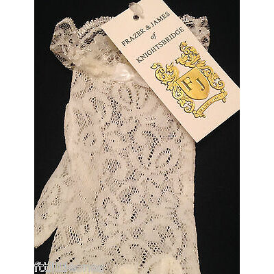 GIRLS WHITE OR IVORY LACE & BOW GLOVES HOLY COMMUNION FLOWER GIRL BRIDESMAIDS