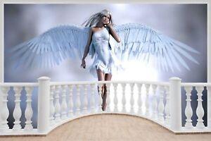 Huge 3D Balcony Fantasy Angel Wall Stickers Wallpaper Mural 703 eBay