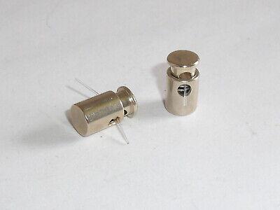 4 Stück Kordelenden Metall Endstück 12x8 mm silber NEU rostfrei 0540