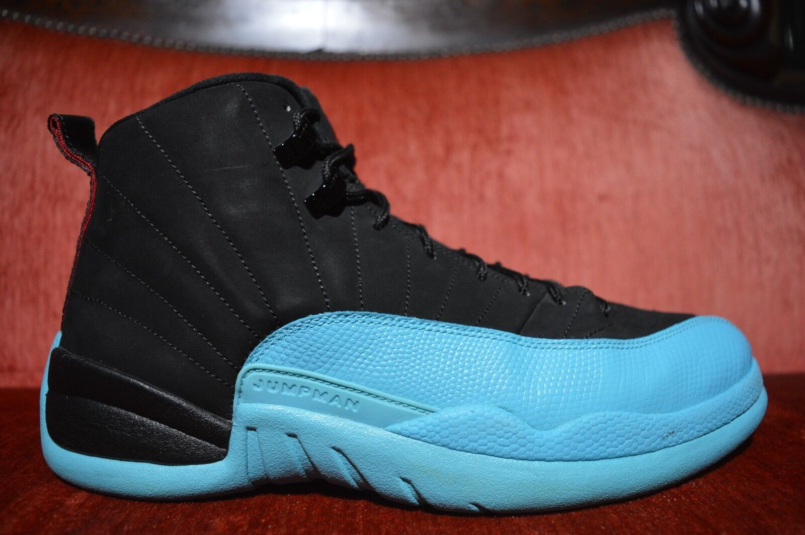 CLEAN Nike Air Jordan XII 12 Retro Black Gamma Blue 130690-027 Comfortable The most popular shoes for men and women