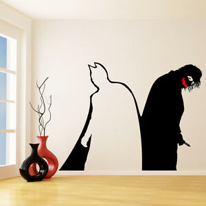 Vinyl wall decal batman joker decal why so serious dark for Dark knight mural