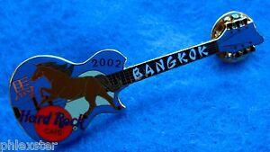 Bangkok-Annee-de-Cheval-Bleu-Gibson-les-Paul-Guitare-2002-Hard-Rock-Cafe-Pin-Le