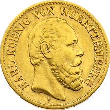 N262) J.292 WÜRTTEMBERG 10 Mark 1878 F Karl 1864-1891 Gold