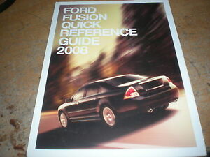 ford fusion factory quick reference owners manual