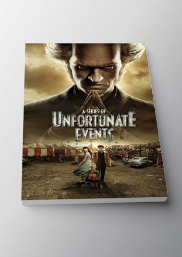 A Series of Unfortunate Events TV Show Poster or Canvas Art Print A3 A4 Sizes