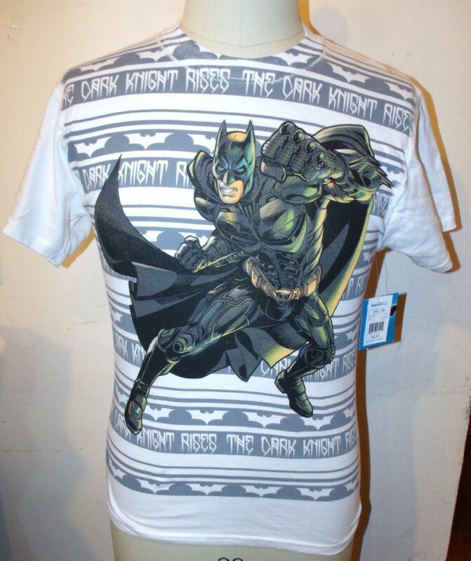 """Tm & Dc Comics """"the Dark Knight Rises"""" White Cotton T-shirt Boys Size Xs(4/5)"""