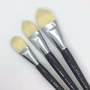 XDT#215 Bright Style XL Artist Paint Brush Art Brushes Hog Bristle XLong Handle