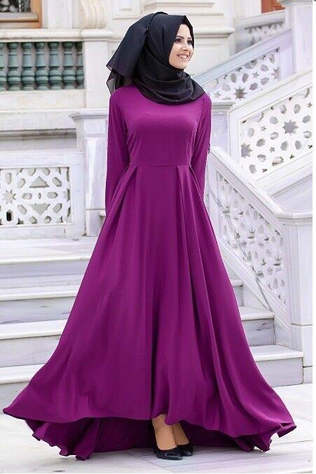Nayla Collection Elbise Mor Tesettür Kleid TR  44 EU  42 Lila