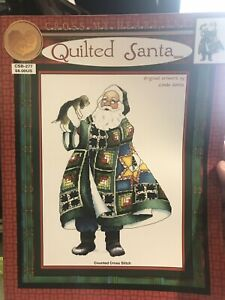 Quilted-Santa-Cross-Stitch-Pattern-Christmas-Linda-Kotila-Cross-My-Heart-CSb277