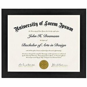 "Americanflat Diploma Frame Tempered Glass - Hanging Hardware - 8.5"" x 11"""