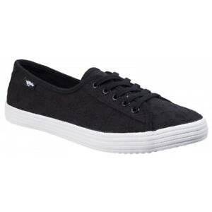 Rocket-Dog-CHOW-CHOW-LUCKY-EYELET-Ladies-Womens-Cotton-Casual-Low-Trainers-Black