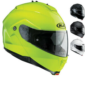 00f6edbf HJC IS-MAX II Plain Flip Front Motorcycle Helmet Modular Sun Visor ...