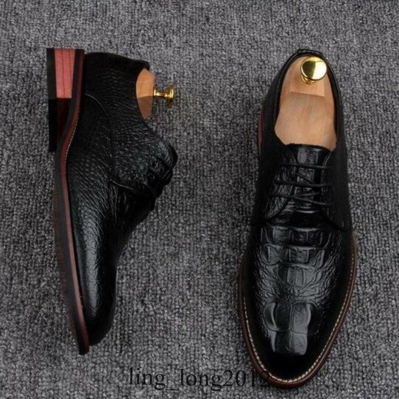 Hot Fashion Uomo Pelle Lace UP Low Heel Breathable Business Business Business Formal Dress Shoes 4097a7