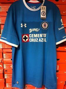 465ac9fa285 Image is loading Under-Armour-Cruz-Azul-home-Stadium-Soccer-Jersey-