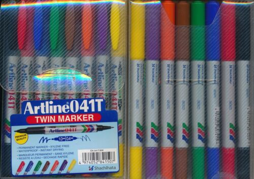 Artline 041T Twin Markers NEW 1.0mm 0.4mm nibs Permanent