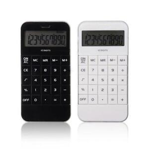 Pocket-Electronic-10-Digits-Display-Calculating-Calculator-for-School-Stud-UKGRL