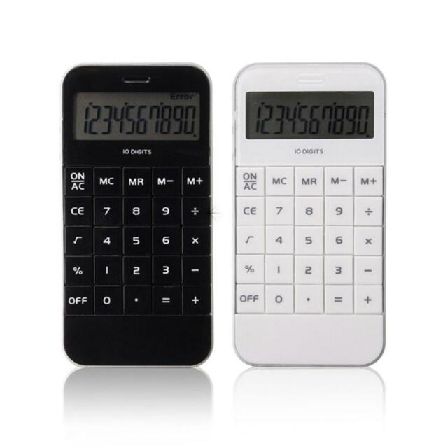Pocket Electronic 10 Digits Display Calculating Calculator for School Stud UKGRL