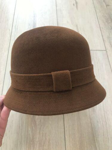 HERMES Women Classic Brown Hat Bucket