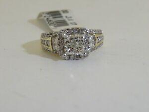 e81e5c137558e 14K YELLOW GOLD & AFFINITY DIAMOND HALO MOSAIC RING 1.40 CTTW QVC ...