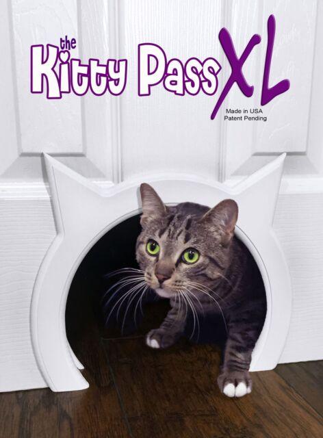 Kitty Pass Xl Large Cat Door Interior Pet Hidden Litter Box Doors