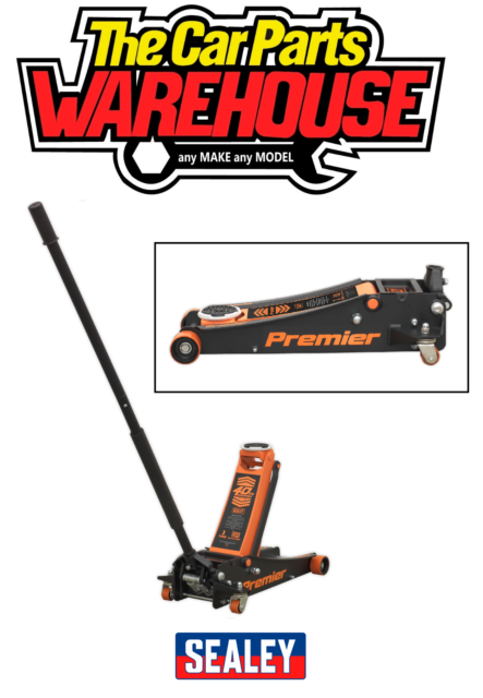 Sealey PREMIER Trolley Jack 3 tonne ROCKET LIFT ORANGE 3040AO (40th Anniversary)