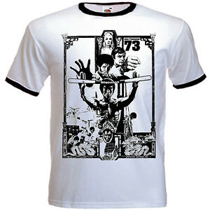 Mens-Bruce-Lee-Inspired-Enter-The-Dragon-Hans-Tournament-Fitted-T-Shirt
