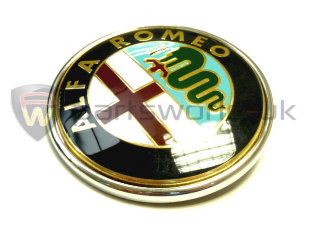 Alfa Romeo Front Grill Badge 147 Spider Gtv Mito Genuine 46558973 Ebay