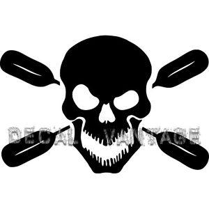 Skull-Oars-Style-B-Vinyl-Sticker-Decal-Kayak-Canoe-Paddles-Choose-Size-amp-Color