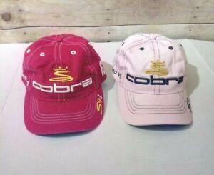 Cobra-Speed-Footjoy-Pink-and-Raspberry-Tone-Adjustable-Hats-Caps-Bundle