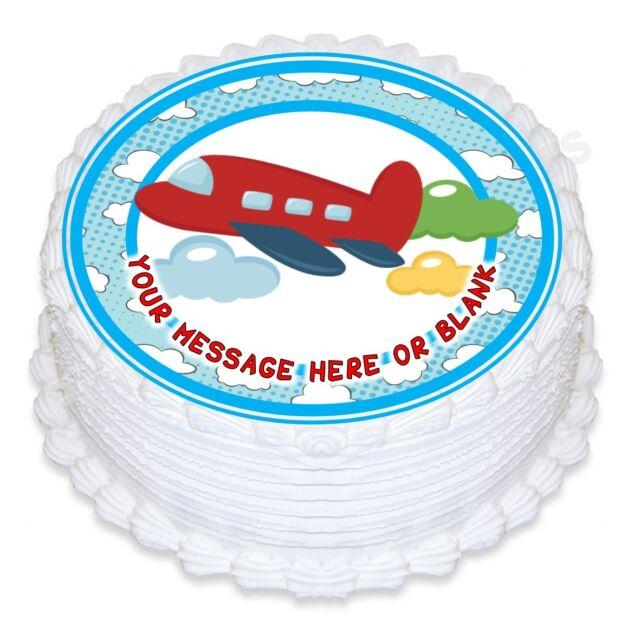Prime Nd3 Cartoon Airplane Birthday Personalised Round Cake Topper Funny Birthday Cards Online Alyptdamsfinfo
