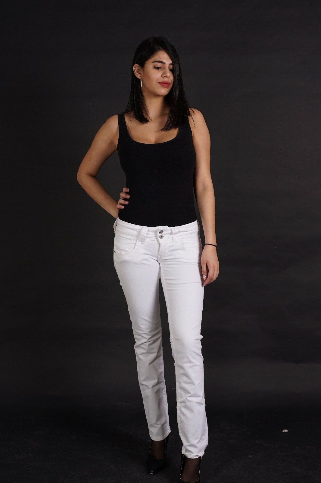 PEPE JEANS Venus Damen Hose Stretch Straight Leg Regular Praxis Klinik WEISS NEU