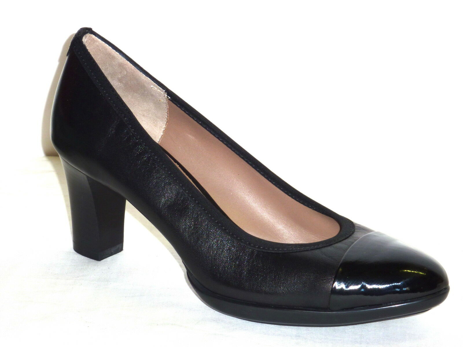 D5112 MELLUSO MELLUSO MELLUSO chaussures femmes PELLE noir DECOLLETE' TACCO MEDIO MODA COMODA n. 35 4bc1e5