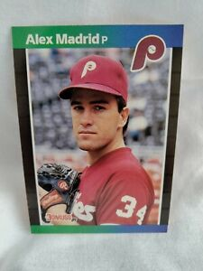🔥1989 Donruss Alex Madrid #604 Rookie ready for Grading No Period After Inc
