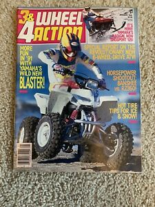 January 1991 3 4 Wheel Action Magazine 4 Wheeler Atv Yamaha Ebay