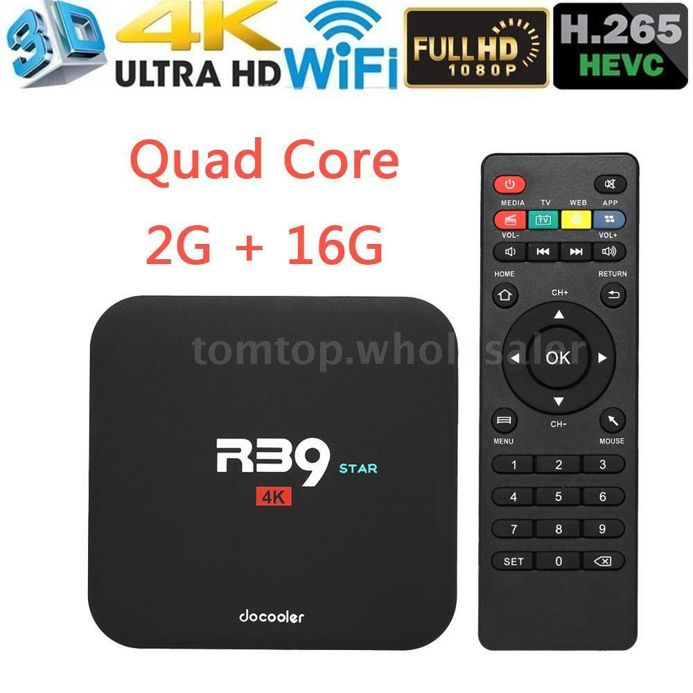 R39 Android7.1 Smart TV Box RK3229 2GB 16GB Quad Core 4K HD 3D WiFi Media Player Featured